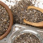 organic chia seeds - vegetal source of omega 3 - fibers